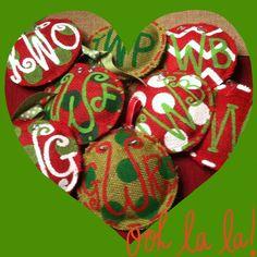 Custom Monogrammed Ornaments
