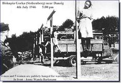 Second photo of the hanging of Jenny-Wanda Barkmann after her conviction of war crimes in It is interesting how these pictures look no different than the pictures of the people he Nazi's hanged during their reign of terror . Danzig, Creepy History, Crime, Horrible Histories, Vietnam War, World History, World War Two, Historical Photos, American History