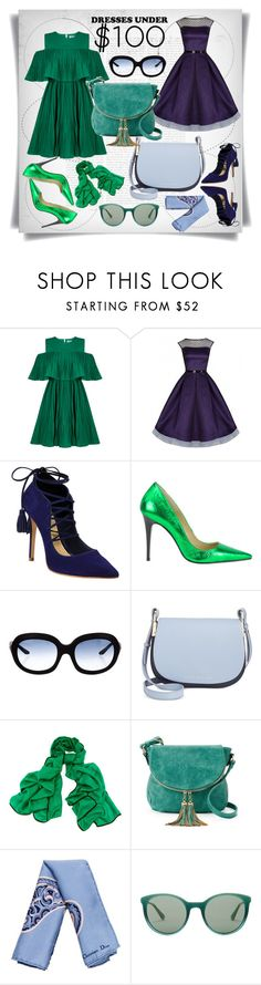 """""""Enter contest Save Draft Open New       WomenMenHomeMy ItemsCollectionsContestFrames & Bo...×Magazine Ar...×Patterns & ...×123 ♥ →×Patterns & ...×$$×vera green× ×$$× ×Jewelry× Under $100: Summer Dresses"""" by imbeauty ❤ liked on Polyvore featuring Jovonna, Schutz, Fendi, Tommy Hilfiger, Black, Deluxity, Christian Dior, Prada and under100"""