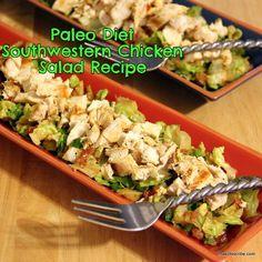 Paleo Diet: Southwestern Chicken Salad   Recipe #weightloss #diet #paleo
