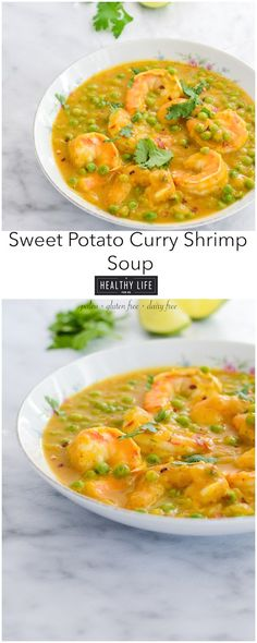 Paleo Sweet Potato Curry Shrimp Soup Recipe