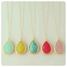Delicate stone necklace $25, want one so badly!
