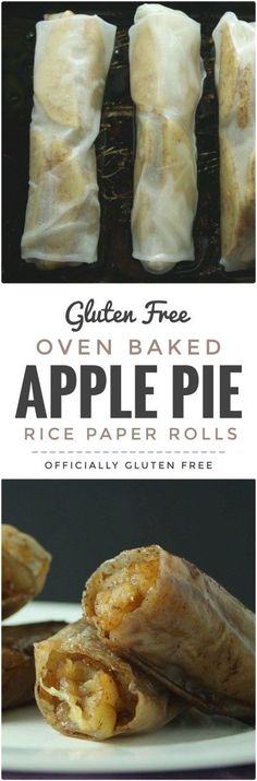Apple Pie Rice Paper Rolls This Easy to make and so delicious Baked Apple Pie Rice Paper Rolls recipe makes a perfect dessert. Theyre Easy to make and so delicious Baked Apple Pie Rice Paper Rolls recipe makes a perfect dessert. Gluten Free Sweets, Gluten Free Cooking, Vegan Sweets, Vegan Desserts, Plated Desserts, Icebox Desserts, Easter Desserts, Apple Desserts, Summer Desserts