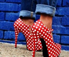 polka do shoes