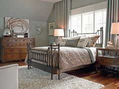 Shop for the Thomasville® American Anthem Collection at Howell Furniture - Your Beaumont, Port Arthur, Lake Charles, Texas, Louisiana Furniture & Mattress store Guest Bedroom Decor, Guest Bedrooms, Bedroom Ideas, Master Bedrooms, Master Suite, King Bedroom Sets, Bedroom Furniture Sets, Howell Furniture, Thomasville Furniture