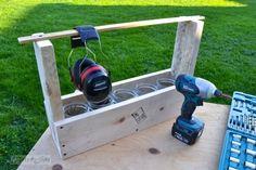 DIY: Pallet wood tool tote