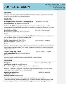 Nursing Assistant Objective For Resume Fascinating Customer Service  Resume Examples No Experience  Pinterest .