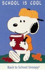 BACK TO SCHOOL SNOOPY Flag. Lots of snoopy stuff at snoop4pnuts.com