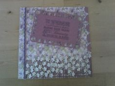 Kanban papers, Tattered Lace flower die, Indigo Blu sentiment stamp
