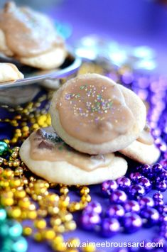Pecan Praline King Cake Cookies