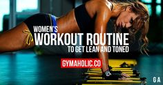 Youre a female, you want to workout but you dont know where to start. Gymaholic provides you a weight training for women so you can get lean and toned.