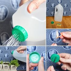 Mira qué pasos más sencillos para convertir una botella de plástico en una regadera. Irene.
