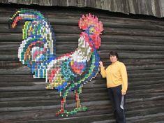 Петух из пробок - Din.lv - информационный портал города Даугавпилс - Даугавпилс
