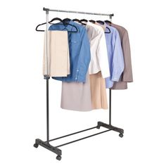Walmart Clothes Hanger Rack Pleasing Brushed Chrome Metal Clothes Rack  Garment Racks Metal Clothes Decorating Inspiration