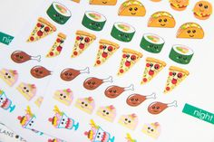 43 Food Stickers - H2 - Oh, Hello Stationery Co.   - 1