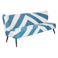 KAI AQUA STRIPE UPHOLSTERED SOFA - Sale - HD Buttercup Online – No Ordinary Furniture Store – Los Angeles & San Francisco