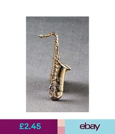 Collectable Badges Metal Enamel Pin Badge Brooch Saxaphone Gold Sax Musician Orchestra Music Wind #ebay #Collectibles