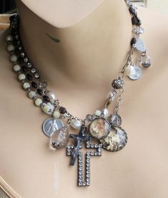 Gentle on my Mind Pearls Sterling & Antique French MOP by angels9