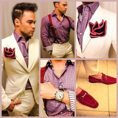 A Sebastian Cruz Couture look. I wouldn't wear a suit in this color but I love the shirt and the suspenders