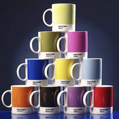I did a huge post on all things Pantone (the universal color matching system also known as PMS) a ways back and there have since been some new additions to the market. For those Pantone-loving peep… Pantone Black, Pantone Color, Pantone Number, Pantone Orange, Pantone Universe, Boutique Deco, Cool Inventions, Deco Design, Tea Mugs
