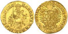Low Countries/Brabant/Spanish Rulers AV Reale d'or ND Antwerpen Mint Karl V Holy Roman Emperor