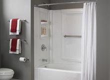 1 Piece Fiberglass Tub And Shower. Lowe S One Piece Tub Shower Bathroom At  Cabinets