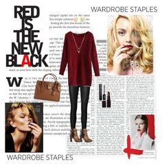 Red Is The New Black by dinapetridi on Polyvore featuring Chicwish, By Malene Birger, ALDO, MICHAEL Michael Kors, Michael Kors, House of Harlow 1960, Laura Mercier and Gucci