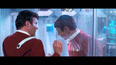 TheAmazingSkipper  on YouTube,  ''Spock's Death - Star Trek II: The Wrath Of Khan'' (1982) link: http://youtu.be/fHAOWLhrxhQ ; ''This is the scene where Spock dies in the original Star Trek movie, where he saves the USS Enterprise and fixes the main engines, and is later sent to the planet that was created by Khan after the genesis machine was activated.''