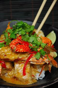 Curry Crab with Vermicelli ~ Singapore Food | Recipes