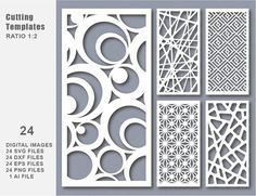 6 Natural Texture for laser / plasma / CNC for decorative partitions panel screen. File good quality tested at machine cnc. Stencil Templates, Stencil Designs, Stencils, Tree Stencil, Laser Cut Screens, Laser Cut Panels, Cnc Cutting Design, Laser Cutting, Crafts
