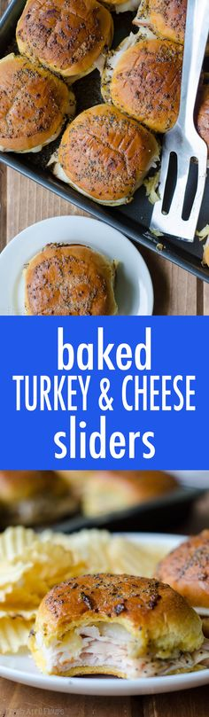 Baked Turkey & Cheese Sliders: Easy turkey and cheese sliders baked in a honey mustard glaze. New Recipes, Cooking Recipes, Favorite Recipes, Amazing Recipes, Easy Recipes, Recipies, Baked Turkey, Best Party Food, Christmas Cooking