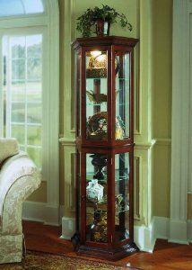 Pulaski Preference Curio Cabinet By Pulaski. $417.00. Two Hinged Doors.  Adjustable Halogen Lighting