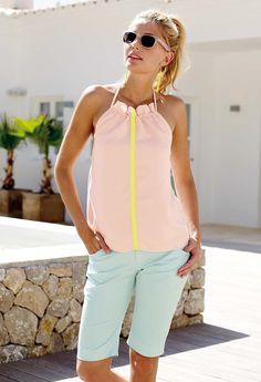 Stoff & Stil - Twill stretch lys aqua Stretches, Aqua, Rompers, Shopping, Dresses, Diy, Fashion, Vestidos, Moda