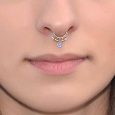 PURPLE OPALS TRIBAL SEPTUM RING  #tribal_jewely #tribal_piercing #tribal_septumrings #iroocca