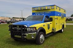 Austin-Travis County, TX EMS Ford/Wheeled Coach Ambulance.