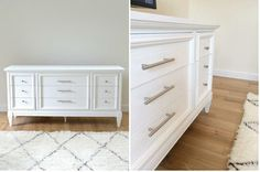 Cómo pintar una cómoda de blanco, paso a paso