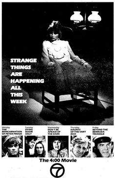 The Boob Tube Horror on the Tube (Part Strange Things Are Happening, 1980s Pop Culture, Bermuda Triangle, Tv Schedule, Staying Up Late, Famous Monsters, Fright Night, Tv Ads, Cherished Memories