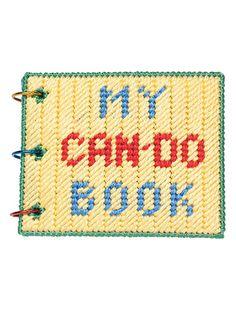 Craftdrawer Crafts: Make a Toddler Book in Plastic Canvas Pattern Plastic Canvas Letters, Plastic Canvas Crafts, Canvas Patterns, Craft Patterns, Baby Canvas, Plastic Mesh, Pet Toys, Kids Toys, Toddler Books