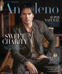 Ian Somerhalder covers the November 2016 issue of Modern Luxury Angeleno.(November, 2016) http://www.justjaredjr.com/2016/10/27/vampire-diaries-ian-somerhalder-wants-to-start-a-family-with-nikki-reed/
