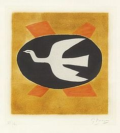 """L'oiseau de feu (Oiseau XIII)""-Georges Braque"