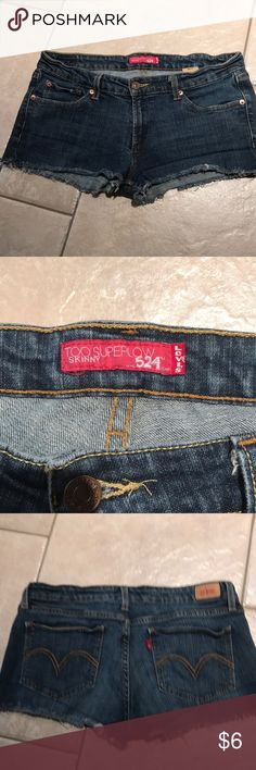 649846b55d490d Levi's Cut Off Shorts Size 11 These are in very good condition. They are  jeans that have been cut off Levi's Shorts Jean Shorts