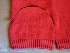 Make a new winter hat from an old sweater! (Uses an existing hat for the template)