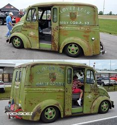 1948 Divco UM 8 Rat Rod milk truck sporting the Clover Leaf Dairy Company emblem. Rat Rod Trucks, Rat Rods, Diesel Trucks, Cool Trucks, Big Trucks, Chevy Trucks, Dually Trucks, Truck Drivers, Lifted Trucks