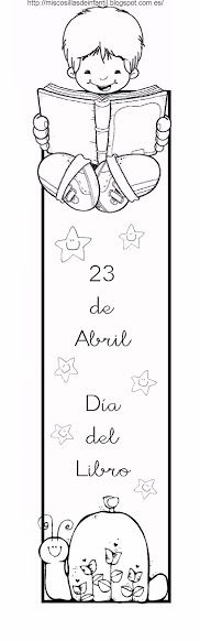 Día del libro: Marcapáginas Coloring Books, Coloring Pages, Pencil Toppers, Book Markers, Saint George, Craft Work, Clip Art, Printables, Album