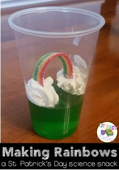 This simple St. Patrick's Day snack is perfect for the classroom!  Fun, easy and a great science connection to states of matter.