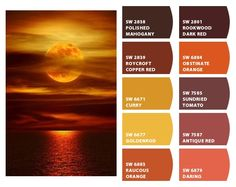 Instantly turn any picture into a palette with ColorSnap, created for you by Sherwin-Williams. Paint Color Schemes, House Color Schemes, House Colors, Beautiful Color Combinations, Color Combos, Orange Paint Colors, Relaxing Colors, Yellow Painting, Color Swatches