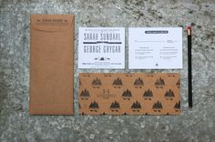 WEDDING WEEK | etsyfindoftheday 3 | 6.19.14 thursday theme: my personal wedding picks mountain and wolf letterpressed wedding suite by allisoncornua little bit rustic, a little bit modern, this stamped and typographic wedding suite mixes neutrals beautifully.