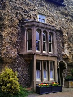 St Edmunds Abbey - House built into the ruins of St. Edmunds Abbey - Bury St. Edmunds, England