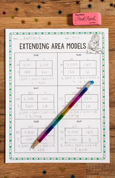 This area model practice is perfect for teaching 2-digit by 2-digit multiplication! Math Teacher, Math Classroom, Teaching Math, Teacher Stuff, Classroom Setup, Future Classroom, Google Classroom, Teaching Tools, Maths