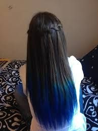 black hair with blue tips pictures - Ellie